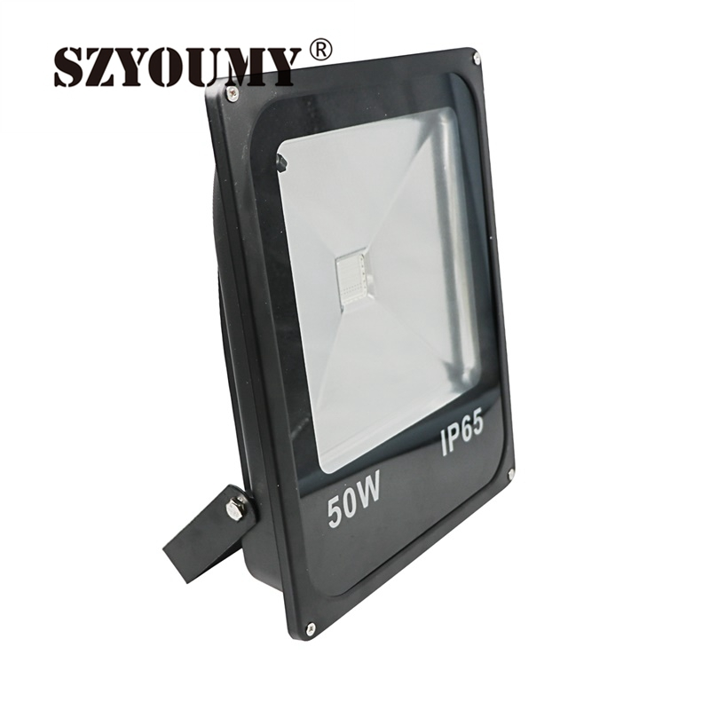 SZYOUMY LED Floodlight 70W 100W Waterproof IP66 Warm White Cold White RGB Led Outdoor Lighting LED Spotlight Lamp DHL Free
