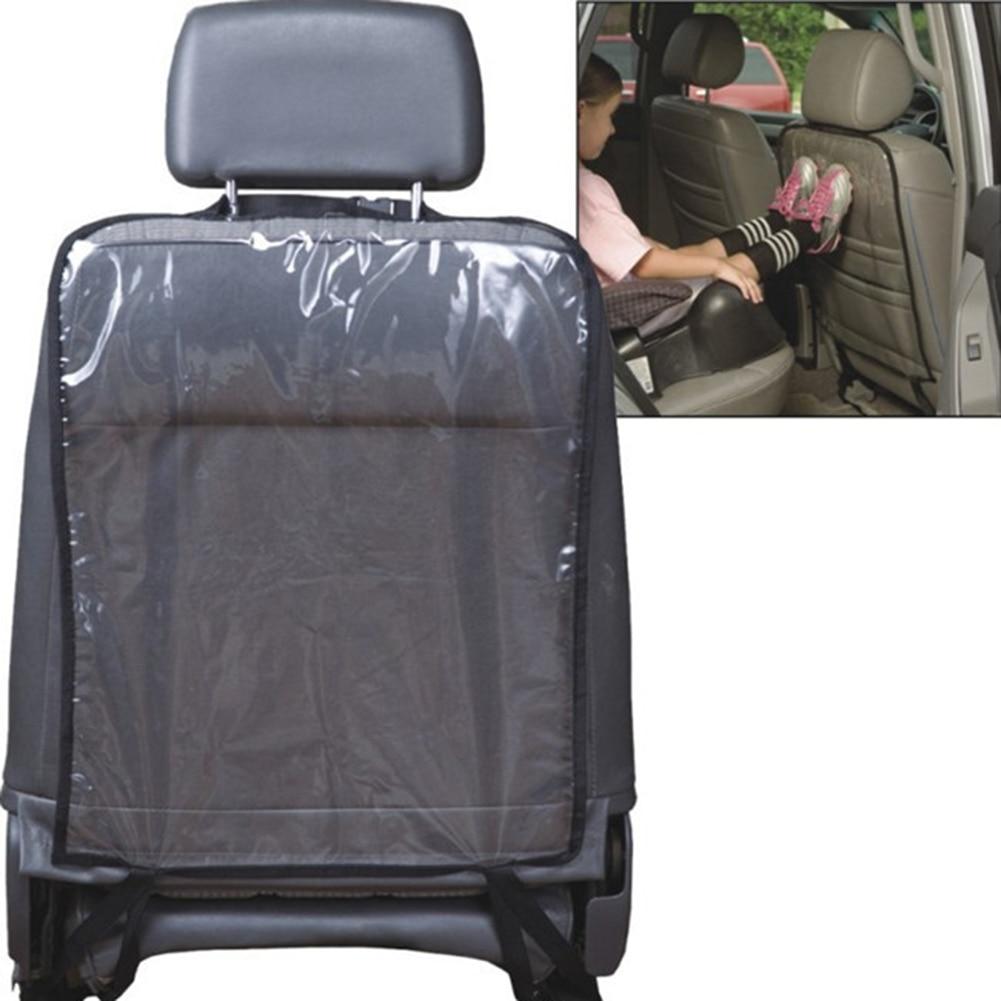 Asiento antideslizante Auto Kick Kicking Mat PVC asiento trasero del coche Protector de la cubierta para Kick Mat Asientos Voiture Proteger Car Styling