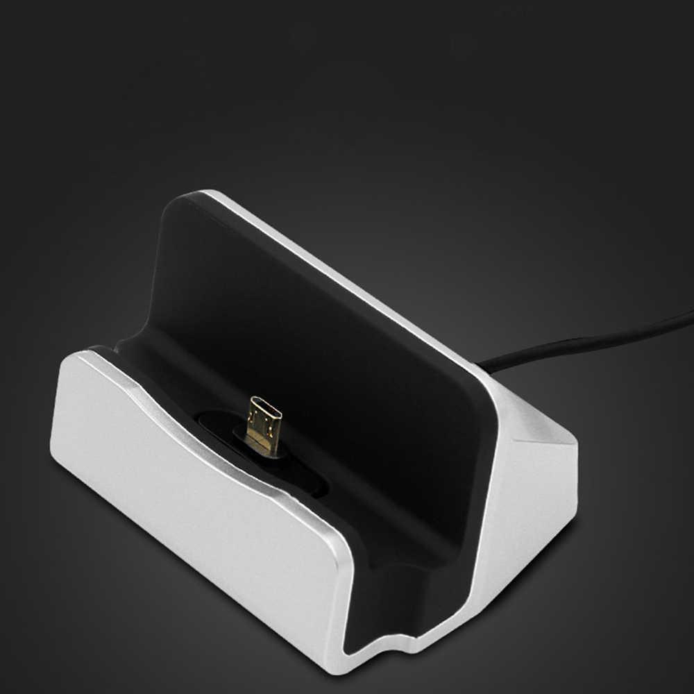ل فون X 8 7 6 كابل يو اس بي مزامنة مهد شاحن قاعدة ل Xiaomi الروبوت نوع C سامسونج حامل حامل قاعدة شحن قاعدة لتثبيت الكمبيوتر المحمول