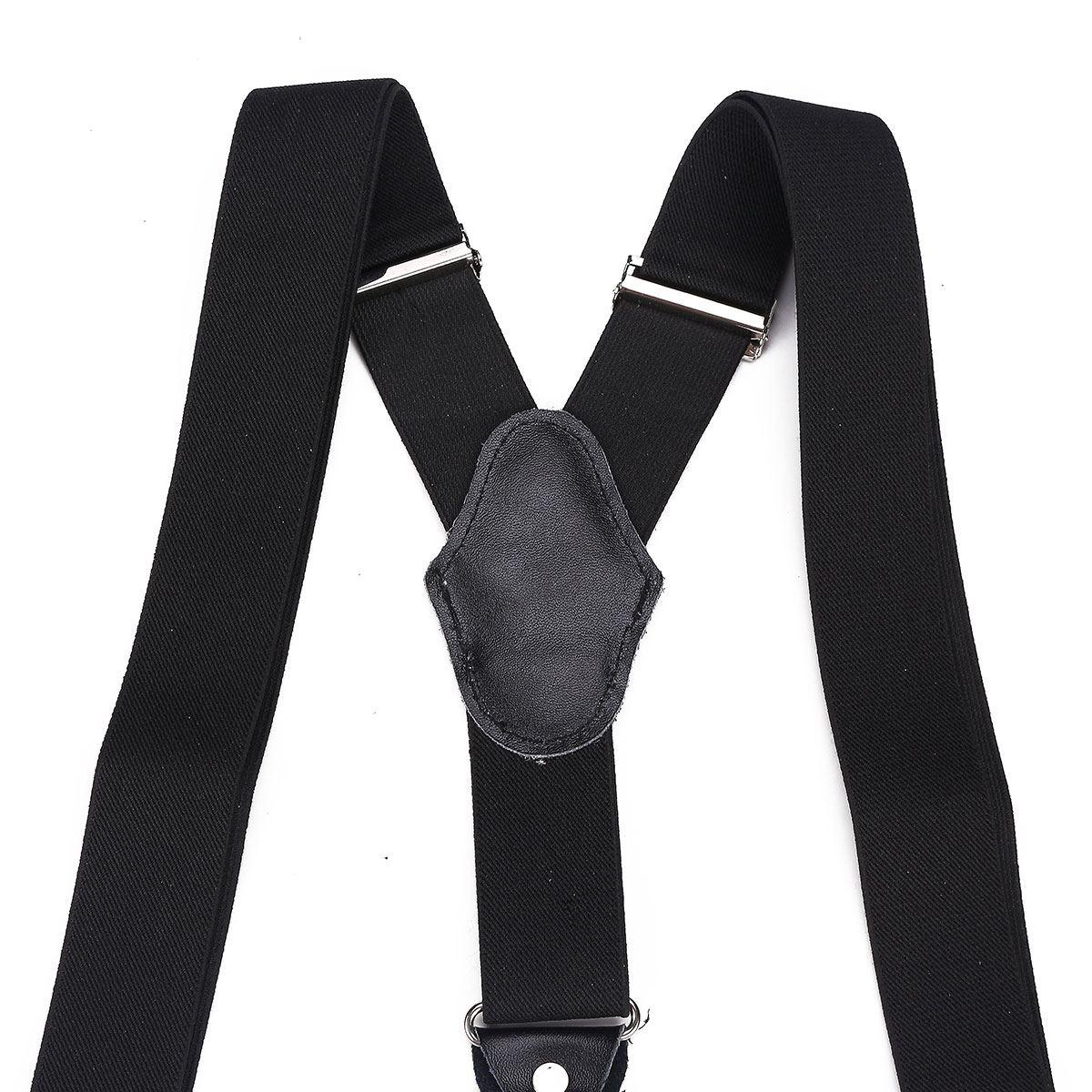 Hot Men Suspenders Adjustable Y Shape Clip-On Trousers Braces 35mm Wide Belt