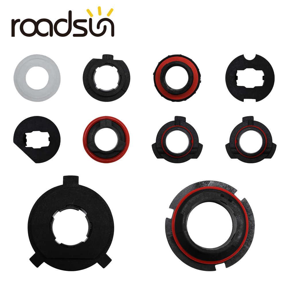 roadsun 2PC H1 H3 H4 H7 H8 H9 H11 H13 9004 9005 9006 9007 880 Adapter Holder Base Sockets Retainer for S2 Car LED Headlight Bulb