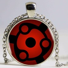 New Naruto Sharingan Eye Necklace Vintage Naruto' Jewelry National Style Chain Glass Pendants Necklaces Handmade Anime Pendant