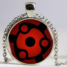 New Naruto Sharingan Eye Necklace Vintage Naruto' Jewelry National Style Chain Glass Pendants Necklaces Anime Pendant HZ1