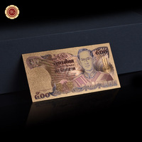 WR Bhumibol Adulyadej Thailand 500 Baht Colorful Gold Foil Banknote Hot Pure Gold Banknote Made In China for Gifts