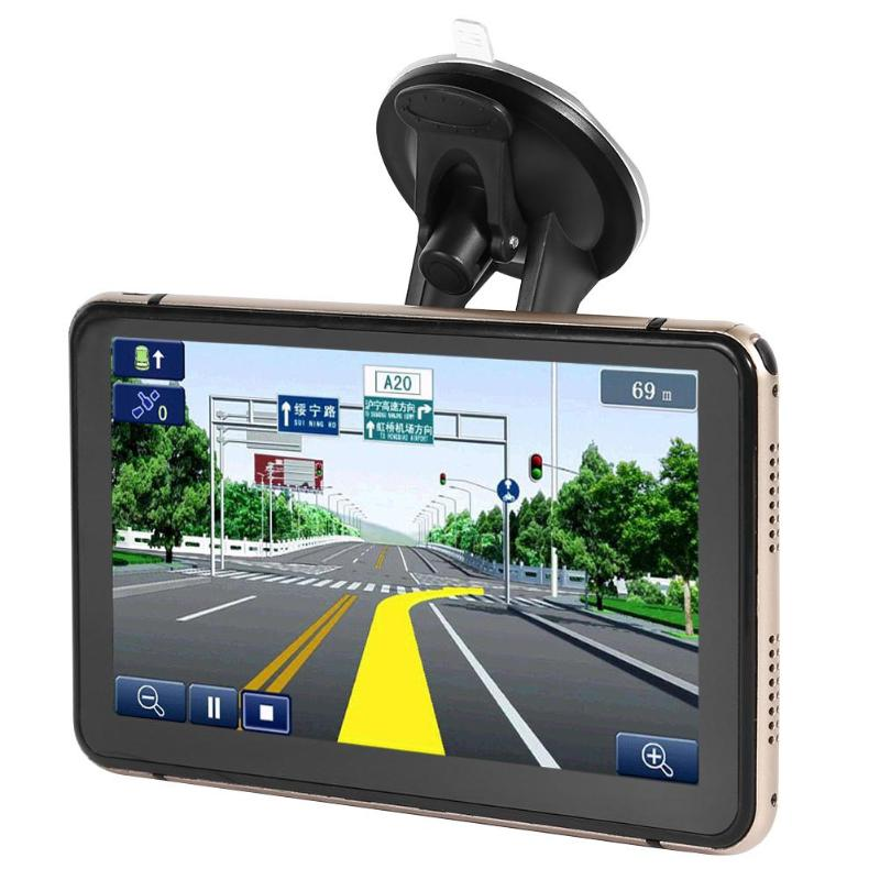 Android 4.4 7 zoll GPS Navigation Touchscreen 800*480 Pixel Eingebaute Mikrofon Bluetooth WiFi AV-IN Sat Nav Auto DVR recorder