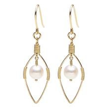 real natural big The original hand strong natural pearl earrings earrings ear jewelry authentic Japanese