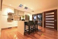 2017 Современная Глянцевая белые лакированные кухонные шкафы с отдельностоящий шкаф индивидуальные модульные кухонные мебель L1606035