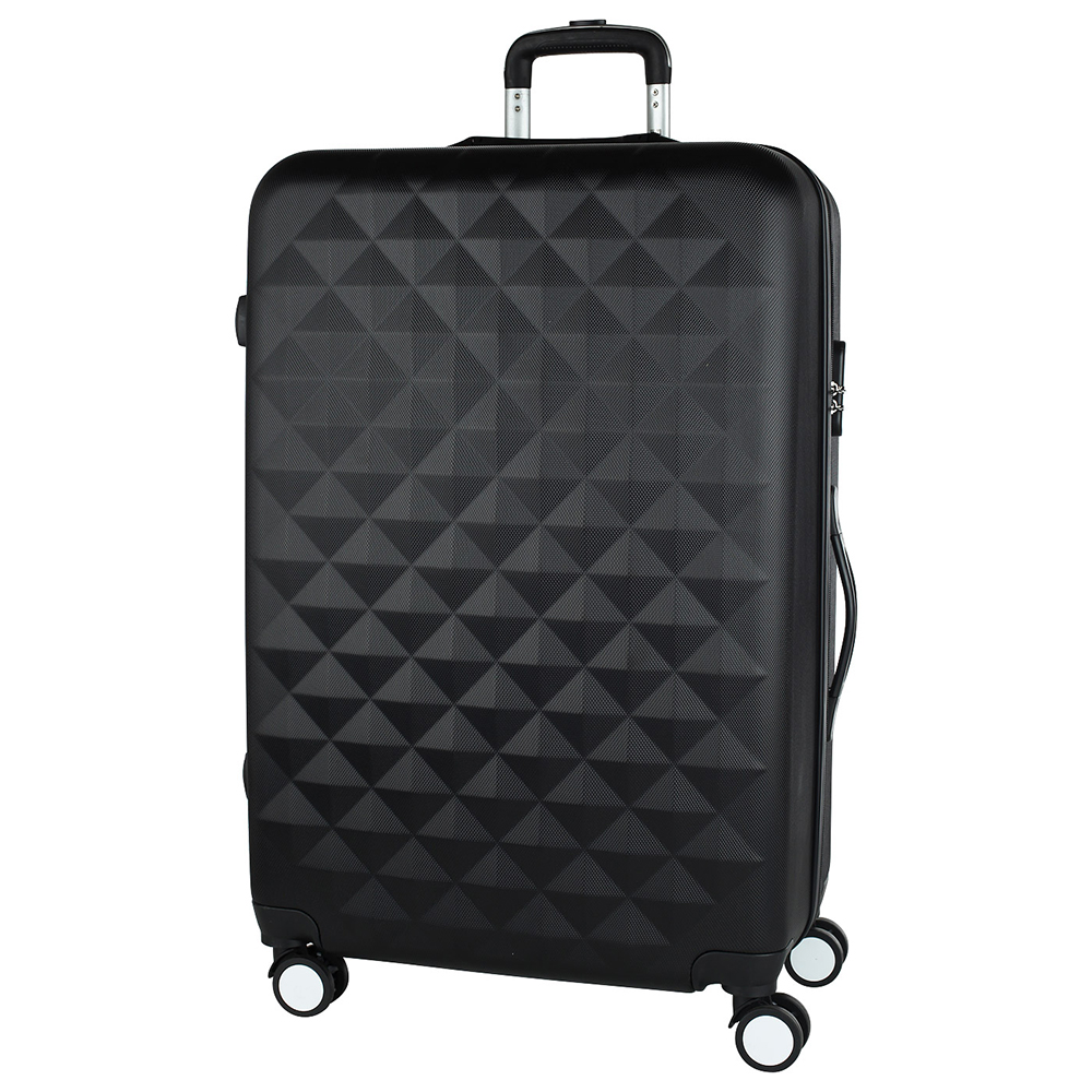 Good black suitcase PROFFI TRAVEL PH8646 black, L, plastic, with integrated weights, large hot air plastic welding nozzle advertise cloth material welding tools good quality