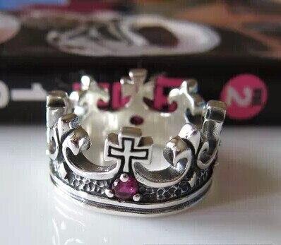 Тайские серебряные персонализированные Серебряные украшения 925 серебро мужчин и женщин ретро суд Корона кольцо