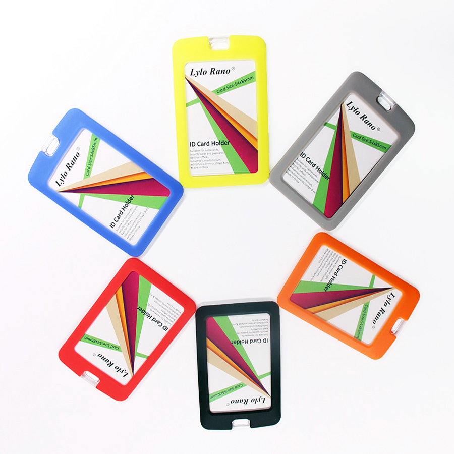 New Silicone Card Holder Waterproof Dustproof Durable Name Badge Holders Name Tag Office Stationery
