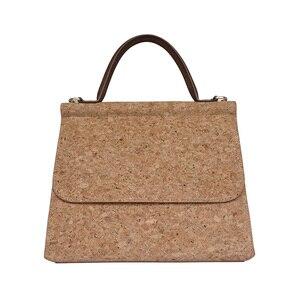 Image 4 - KAOGE Vegan Luxus Natürliche kork tasche Frauen Handgemachte Schulter Taschen Antifouling Handtasche Designer Taschen Damen Hand Tasche