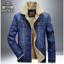 New Brand Winter Denim Jacket Men Thick Wool Liner Warm Washed Jeans Jackets Mens Outwear Winter Coat Size:M-4XL