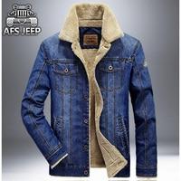 New Brand Winter Denim Jacket Men Thick Wool Liner Warm Washed Jeans Jackets Mens Outwear Winter