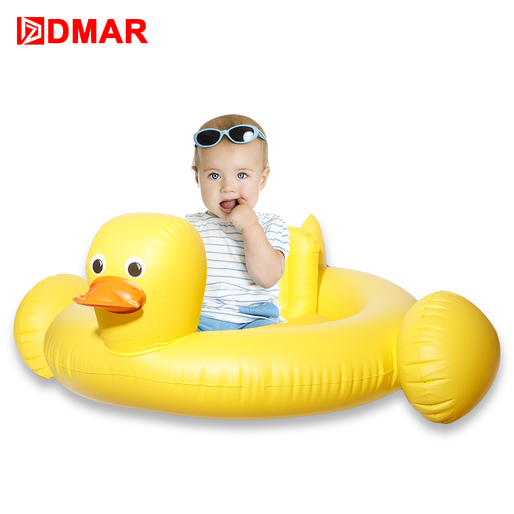 DMAR InflatableYellow duck pool Giant Pool Float for Kids Swimming Ring Circle Baby Beach Mattress Sea Water Toys