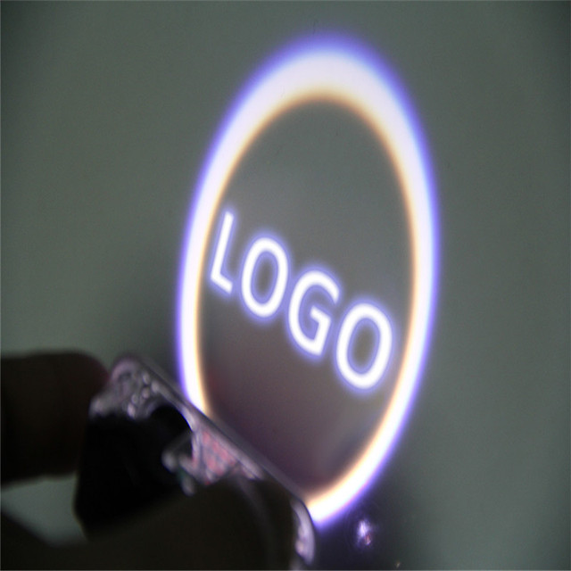 1Pair LED Car Attractive Door Welcome Light Courtesy Led Auto Laser Projector Logo Ghost Shadow Light For Audi Logo Power Light