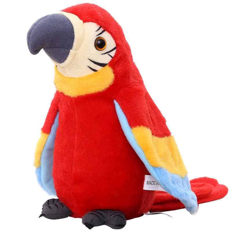 Electronic Pets Talking Parrot Toys  Funny Sound Record Plush  Christmas Gift For Kids Children