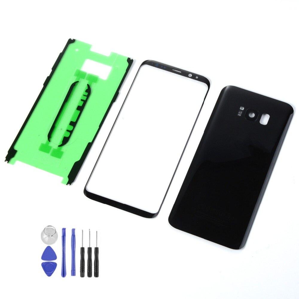 Für Samsung Galaxy S8 + S8 Plus G955 G955F Gehäuse Batterie Zurück Abdeckung + LCD Vordere Touchscreen Sensor + klebstoff + Werkzeuge