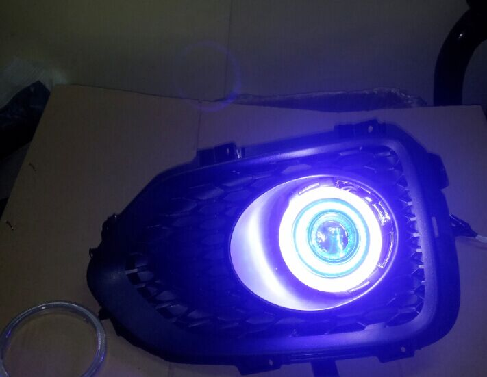 LED DRL дневна светлина COB ангелско око, - Автомобилни светлини - Снимка 5