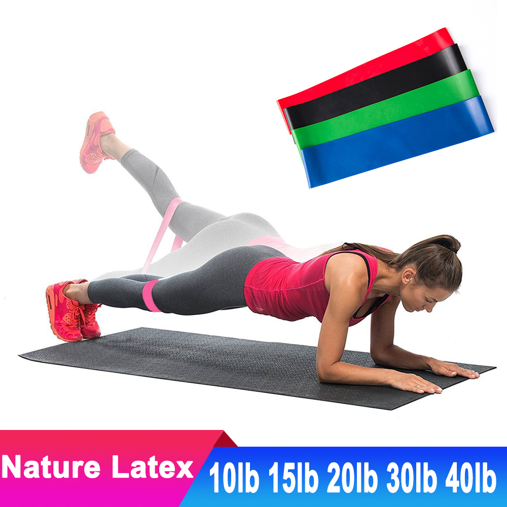 Nature Latex Rubber Yoga Resistance Bands Exercise Fitness Gym Equipment Expander Hip Training Belt Yoga Strap Accessories