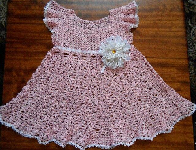 2015 Baby Girl Dress Handmade Dress Crochet Dress Newborn