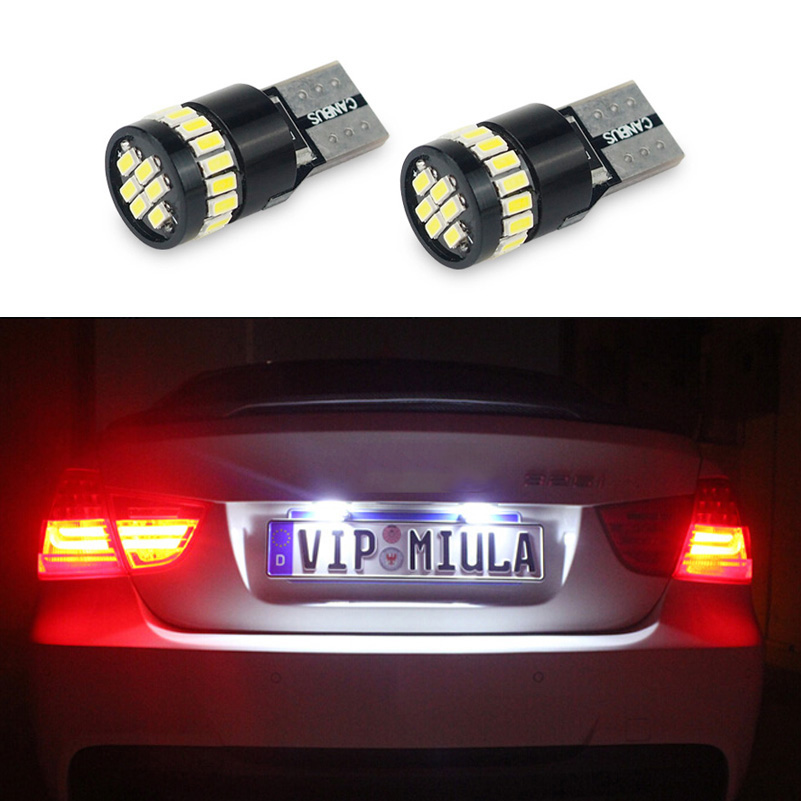 AUXITO T10 W5W 168 192 Canbus LED Car License Plate Light For Hyundai ix35 i20 i30 iX45 iX25 Elantra Sonata Verna Tucson Solaris custom fit car floor mats for hyundai ix25 ix35 elantra santafe sonata solaris verna 3d car styling carpet liner ry93