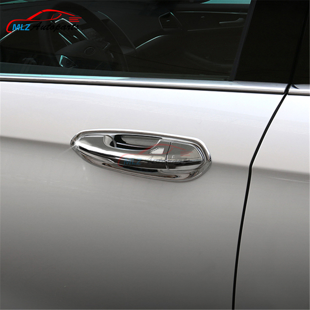 Chrome Door Handle Frame Cover Cap Catch Door Bowl Cover Trim Insert With Smart Key Hole