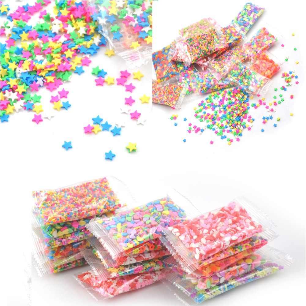 Colorido 10g de arcilla de polímero mermelada de juguete de barro Goma de mano Polyer arcilla niños juguetes de bricolaje accesorios para slime decoración Peso: 10g