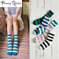 5 pairs/Lot  Brand Cotton Colorful Socks Female's Meias, winter warm school Casual Socks Women striped socks harajuku cheap