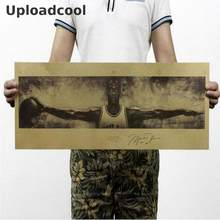 Uploadcool _ Michael Jordan NBA Jordan Sayap Retro Kraft Kertas Poster 72.5X24 Cm(China)