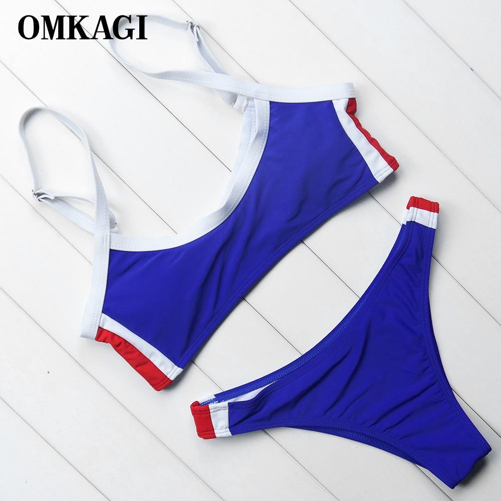 OMKAGI marca Bikini traje De baño mujeres Sexy Push Up Bikinis conjunto De ropa De playa Maillot De Bain Femme 2018