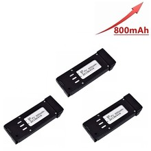 Upgraded 3.7v 800mAh Battery For E58 S168 JY019 Lipo RC Drone Quadcopter Spare Parts Rechargeable 3pcs