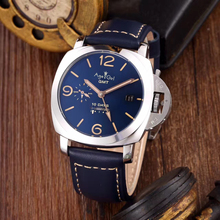 Luxury Brand New Men Automatic Mechanical Sapphire Stainless Steel GMT Watches Silver Black Leather Luminous 10 Days Watch AAA+