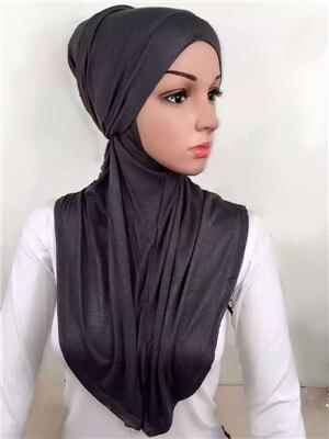 Lj6 модальные двух частей мода мусульманского хиджаба Новый стиль хиджаб повязка на голову шарф