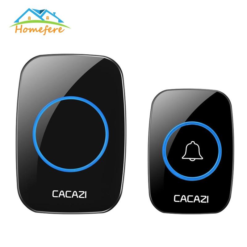 60 Ringtongs New Home Welcome Doorbell Intelligent Wireless Doorbell Waterproof 300M Remote EU AU US Plug Smart Door Bell Chime