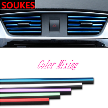 2pc Car Air Vent Grille Trim Decoration Strip DIY For Subaru Forester Impreza Kia Ceed Rio Citroen C4 C3 C5 Fiat BMW E70 G30 E30 image