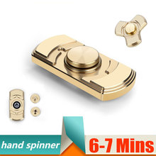 Ceramic bearings Tri Fidget Hand Spinner Triangle Torqbar Brass Puzzle Finger Toy EDC Focus Fidget Spinner ADHD Austim 6-7 Mins