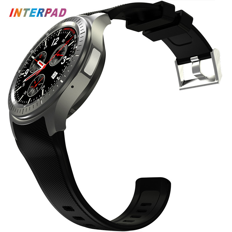 Interpad GPS WIFI DM368 Smart Watch 1.39 inch 3G Phone Call Android 5.1 MTK6580 Quad Core 1.3GHz 512MB 8GB Smartwatch smart baby watch q60s детские часы с gps голубые