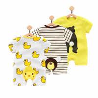 Orangemom 2019 verão bebê menino bodysuits pp cartoon bonito macacão para crianças macacão de bebê, roupa menino vestidos corpo