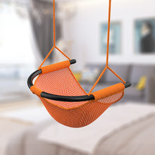 1 PCS Of Children Hanging Chair Swing Hammock Indoor Outdoors Patio Chair Swing Child Toys Max Bearing 300KG(China)