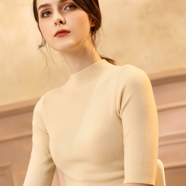 2018 Women Pullover Female Sweater Fashion Autumn Winter Warm Casual  Knitted Tops  sweater 1903