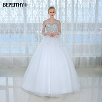 New Arrival Celebrity Fashion Noble Sexy Vestidos De Novia Long Train Weddings & Events Ball Gown Wedding Dress Bridal Gown 2016