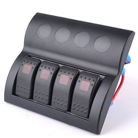 Red LED Car Switch Panel Switches Waterproof Yacht Cockpit Control Switch Marine Rocker Switch Panel RV Boat Refit Accessories