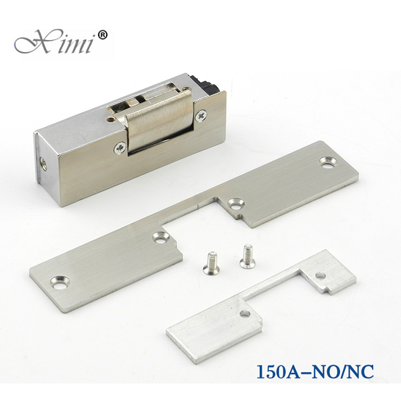 12V Door Lock Electric Strike NO Style Power To Open Fail Safe Electric Lock Cathode lock For Door Access Control System new safurance 12v fail safe nc cathode electric strike lock for access control wood metal door home security