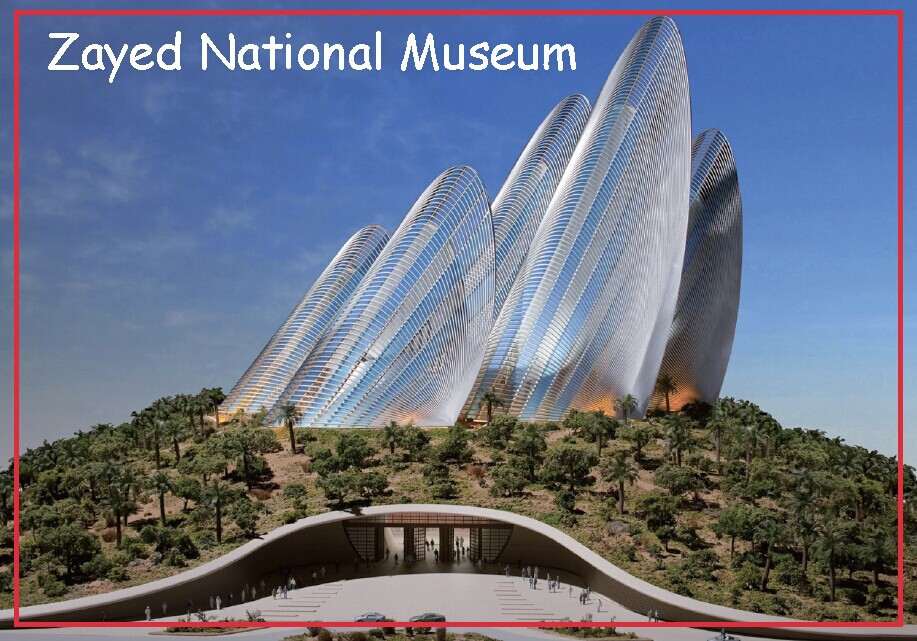 Rectangle Rigid Magnets 78 54mm Zayed National Museum Photo Fridge Magnets 20159 Abu Dhabi