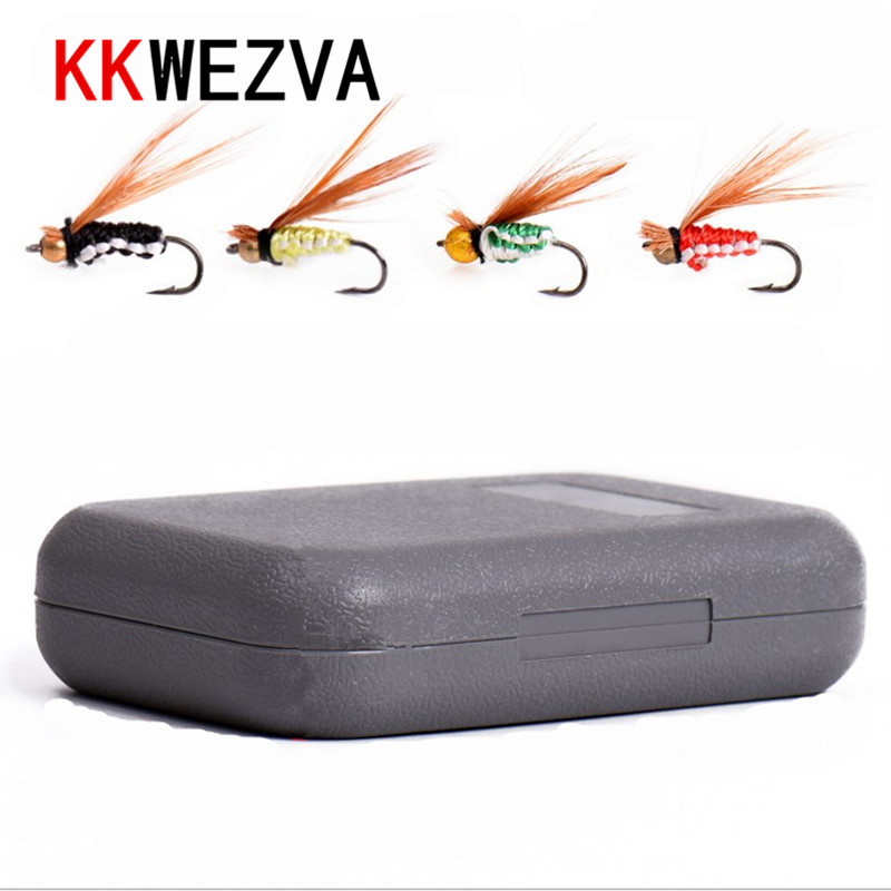 Attractive 40pcs Fly fishing Lure Hooks Butterfly Insects Style Salmon Flies Trout Single Dry Fishing Lures Tackle