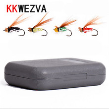 Attractive 40pcs Fly fishing Lure Hooks Butterfly Insects Style Salmon Flies Trout Single Dry Fly Fishing Lures Fishing Tackle 40pcs salmon single flies black yellow sea salmon trout fly fishing lures