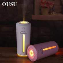 OUSU Gadgets Cool USB LED Light 7 Colors Night 230ml Aroma Essential Oil Diffuser Home Car Ultrasonic Air Humidifier