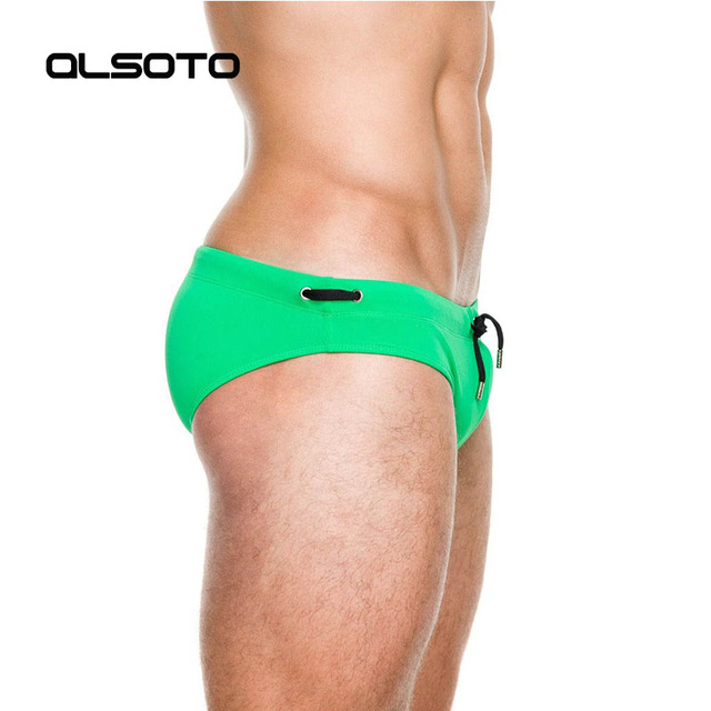 Sexy Swimsuit man's Brand swimming swim trunks low waist swimming gay briefs swimwear boxers patchwork color hot sell Summer