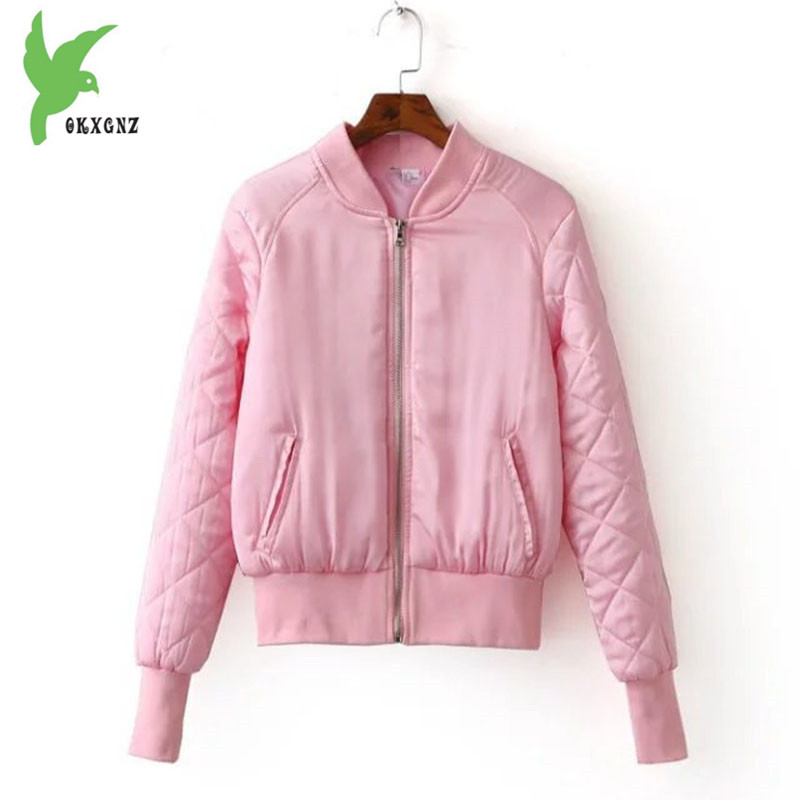 Autumn Winter Short Jacket for Women 2018 new Down cotton   Parkas   Vogue Stand collar Flight Jacket Top Slim Female Warm Coat 1994