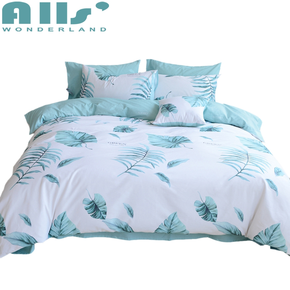 natural leaves duvet cover sets twin queen king size